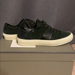 Tom Ford Cambridge Lace Up Sneakers Green 8.5